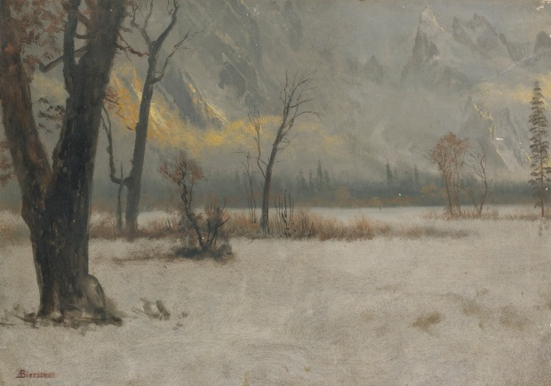 Albert_Bierstadt_-_Winter_landscape